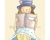 A Good Book Is An Old Friend - Girls bedroom wall art print - reading books imagination - Emily Burnette - Recipe 4 Cute