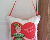 SALE - Valentines Door Hanger - Hey There Cookie
