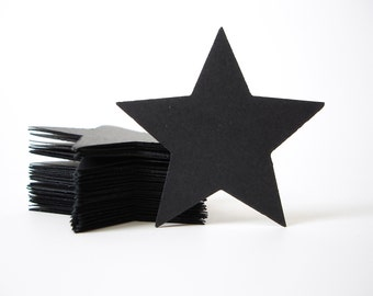 50 Large Black Star Confetti, Twinkle Twinkle Little Star, Birthday Party Decorations - No214