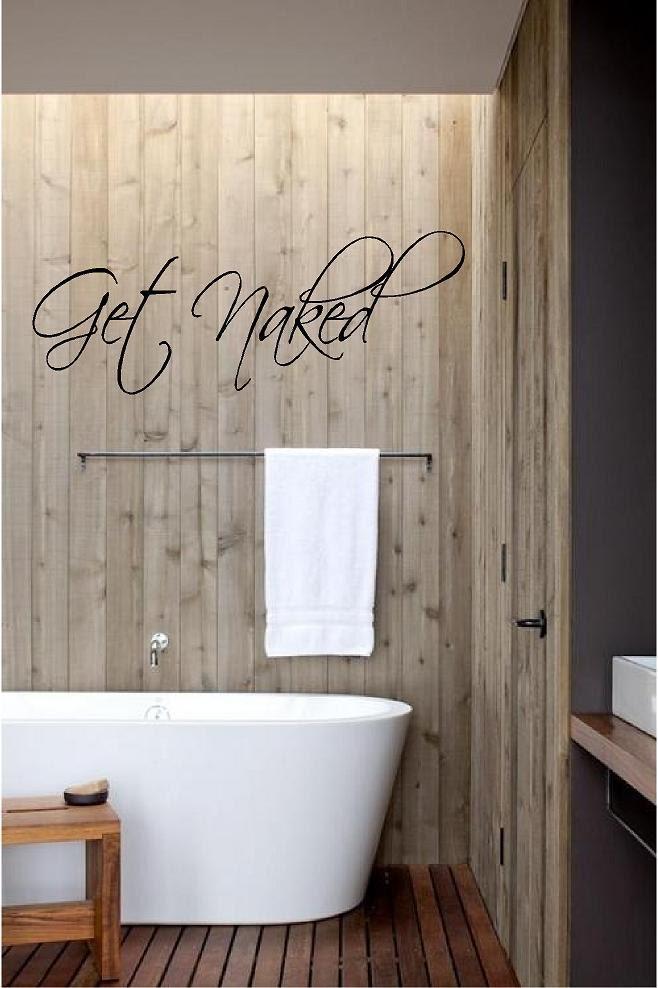 Get naked vinyl decal bathroom decor bathroom wall decal for Get naked bathroom decor