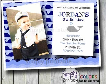 Whale Birthday Invitation