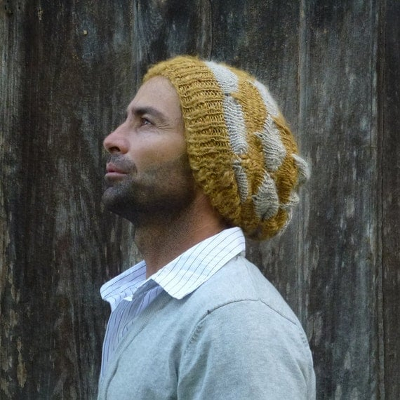 Slouchy Toque Knitting Pattern : Beanie Knitting Pattern Slouchy Unisex Adult by bySol on Etsy