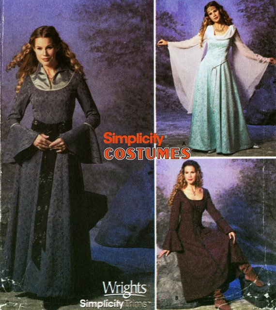 Renaissance Bridal Gown Sewing Pattern Princess Dress: Princess Bride Dress Pattern Simplicity 9891 Uncut By