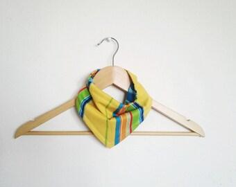 Yellow Stripe Reversible Bandana Bib for Baby, Bibdana