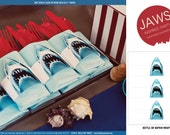 Shark Bottle Wrap - INSTANT DOWNLOAD Printable Party Decorations