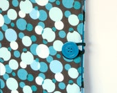 Kindle, Nook, Kobo E-Reader Cover/Book Blue Bubbles in the Wind