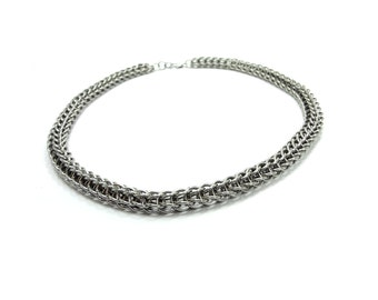 Heavy Metal Choker - Persian Weave Chainmaille