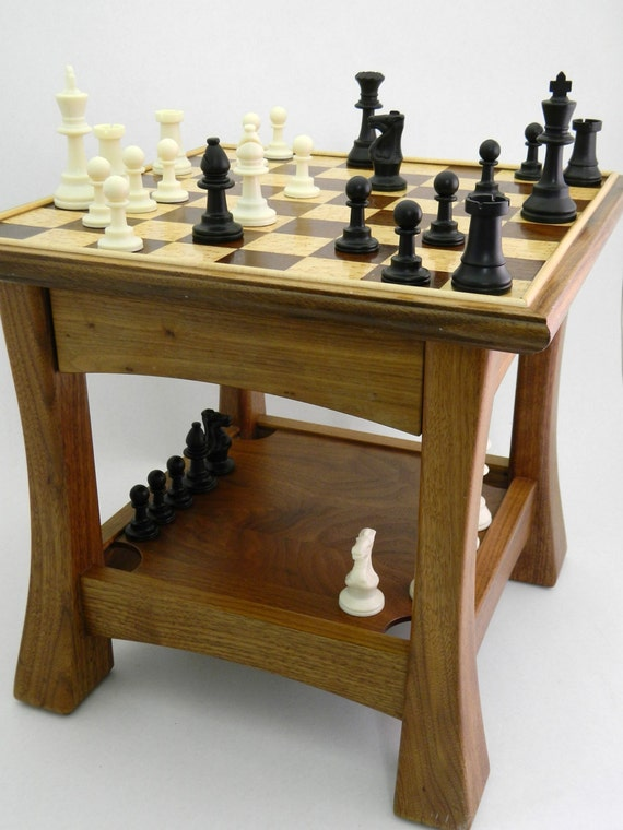 Chess Table Side Table Small Gametable