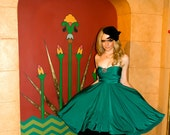 "RESERVED for Megan- 1 Custom Full Circle ""Infinity"" dress in Navy Venezia"