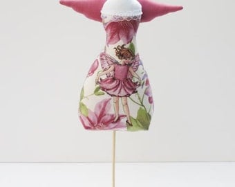 Home decor Dress maker form mannequin pink lilac Angel jewelry stand angel jewelry holder & pincushion unique birthday gift for girl and mom