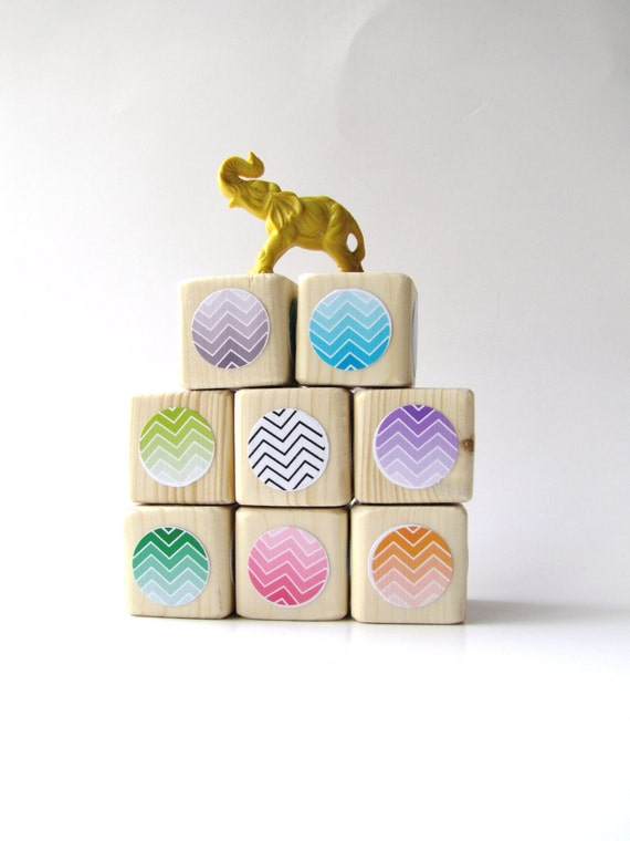Fashionable Baby Shower Gifts : Cool baby gift wood blocks childrens toy valentines by