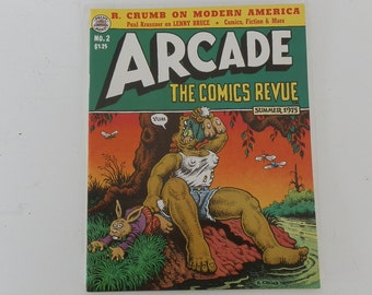 Collectible Paperback Vintage Arcade Comics Revue No.2 Robert Crumb 1975 Excellent Condition Collectible Quality DanPickedMinerals