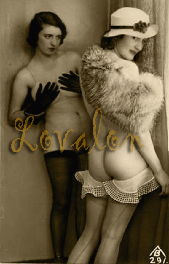 MATURE... Lingerie Party...Vintage Nude Fashion Photo... Deluxe Erotic Art Print... Available In Various Sizes