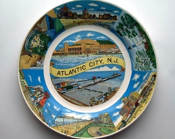 Atlantic City, New Jersey Souvenir Plate, 9 inch collector plate