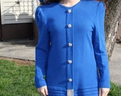 1980s Royal Blue Sweater with Rhinestones