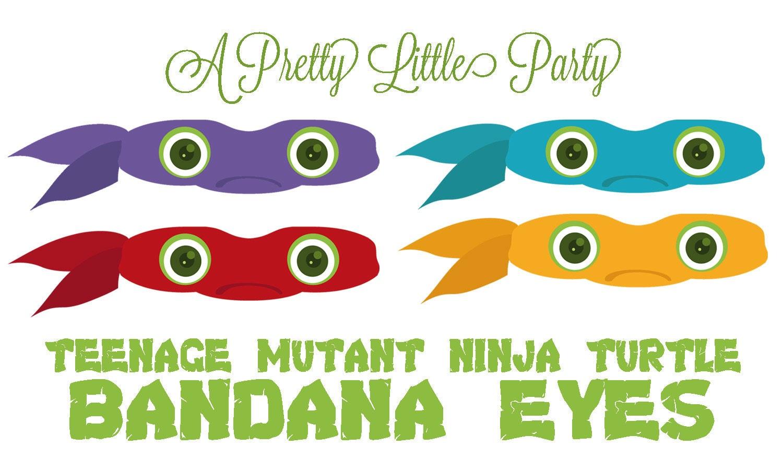 Bandana Eye Mask Tmnt Bandana Eyes Teenage