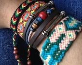 Rasta Chevron Adjustable Friendship Bracelet