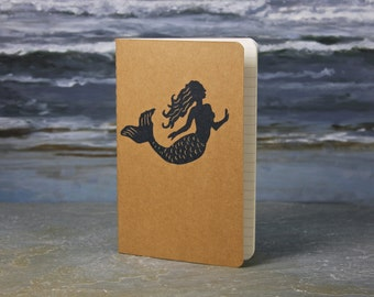 Mermaid, siren of the Ocean, Lady of the Sea. Travel journal with back pocket, notebook.  Sailing journal