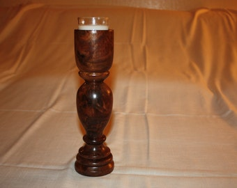 Walnut Candle Holder HH4