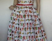 Vintage Style Very Hungry Caterpillar Dress Size 4
