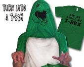 Mens Ask Me About My T-Rex GREEN Flip T-Shirt dinosaur birthday shirt, gifts, dino, trex, long distance boyfriend gift S-5XL