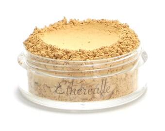 "Vegan Mineral Powder Foundation - Delicate - ""Almond"" (light-medium shade with yellow undertone) Large Net wt 7g Jar"