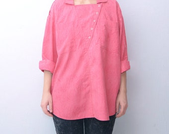 Vintage oversized bright pink shirt