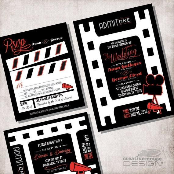 Wedding Invitation movie ticket / FILE ONLY