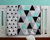 custom feather chevron triangle quilt