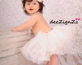 Hair Accessories-White Ivory -Flower Headband-Wedding-Bridal-Flowers for Hair-Bridesmaid-Flower Girl-Baptism-Infant-Baby