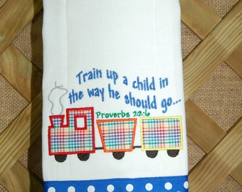Train Up A Child Burp Cloth