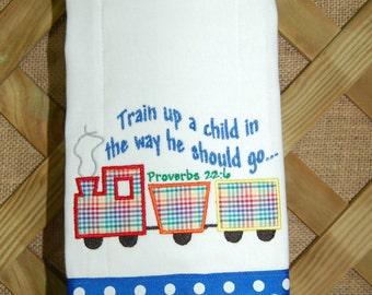 Train Up A Child Burp Cloth
