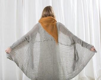 Chunky Soft  women Jacket ,handmade knitted cardigan sweater, knitting ,eco design, cotton