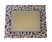 Purple Mosaic Wall Mirror - Made to Order - You Choose the Size