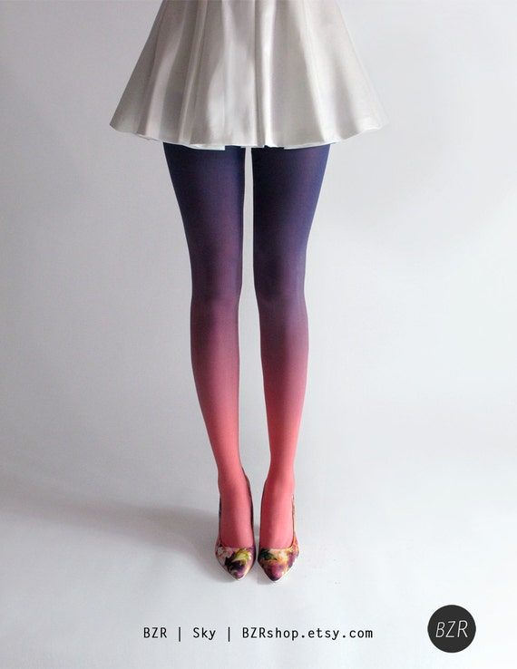 BZR Ombré tights in Sky by BZRshop on Etsy