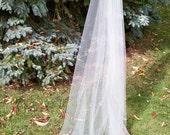 Cathedral Mantilla Veil Cut Edge Illusion Drop Veil