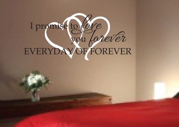 Vinyl Wall Quotes For Master Bedroom : Items similar to romantic sayings vinyl wall art master