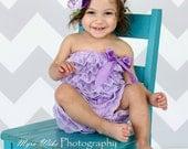Petti Romper - Lace Romper - Easter Romper - Lavender Romper - Baby Romper - Ruffle Romper - Lace Dress - Baby Outfit