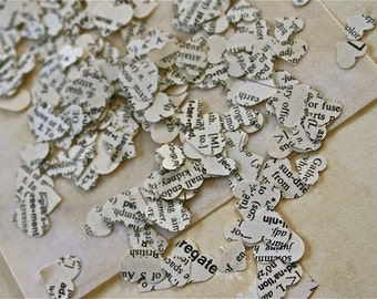 Over 2,500 Hearts Dictionary Paper Confetti