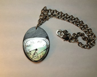 Recycled Cd Clock necklace