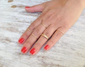 Special offer- 14 Gold rings, Stacking ring, stacking gold rings, knuckle rings, thin ring, tiny ring, gold knuckle rings