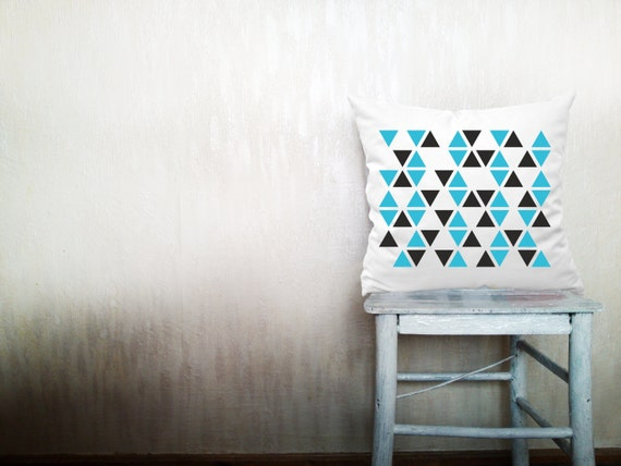 Triangles pillow decorative throw pillow geometric pillow cover white cotton toss arrow pillow case rustic bedding set 18x18 inches ohtteam