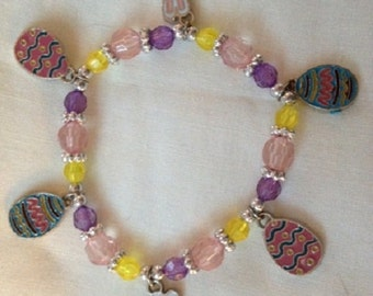 Easter/Spring Adult charm bracelet