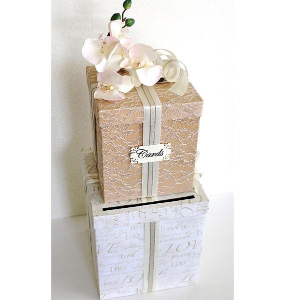 ... Gold. Wedding Card Holder. Wedding Money Box. Ivory Gold Wedding Decor