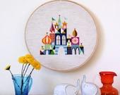 Pretty Little City - Colorful Castle Cross stitch pattern PDF - Instant download