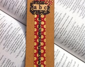 Back To School ABC's Bookmark - Perfect Gift for Teachers and Book Lovers // Kraft Paper // Polka Dots - MarksOnMyHeart
