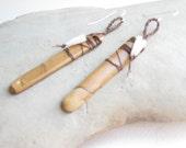 boho tribal earrings, natural stone and shell earrings, brown jasper earrings, long statement earrings