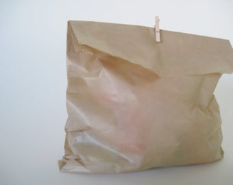 """50 Kraft Wax Sandwich Bag 6""""  x 8"""" for Party Favors and more"""