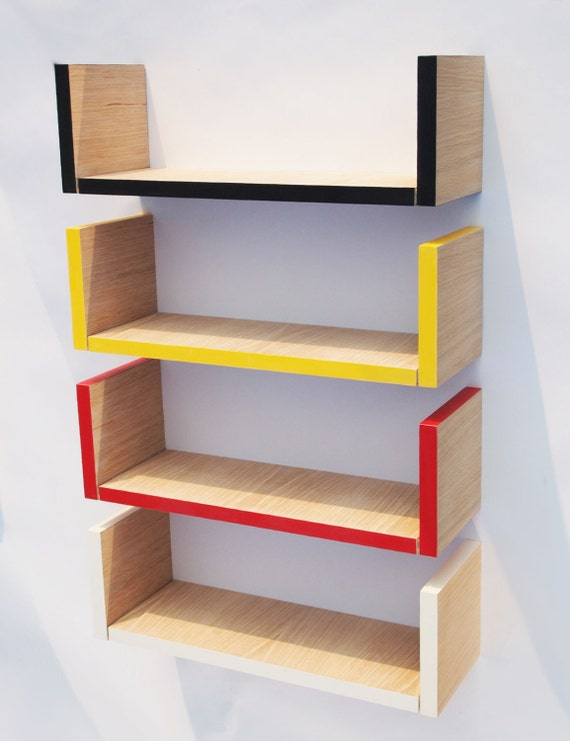 Items Similar To Small Hanging Bookshelf Black And Limed