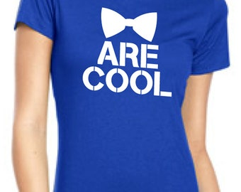 Bow Ties Are Cool T-Shirt Bow-Tie Cool T-Shirt Green Blue Black White Blue Red Size small - XL